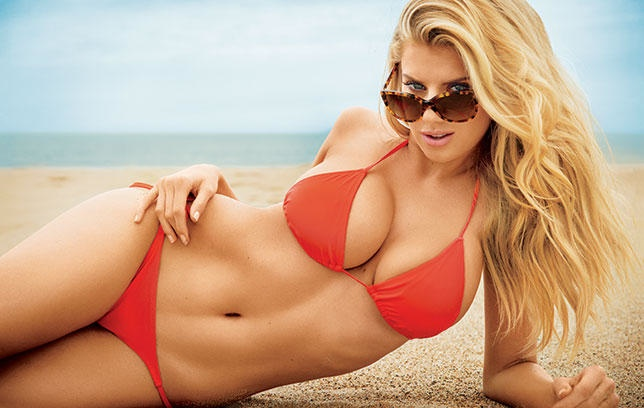 A Swimsuit Clad Charlotte McKinney Poses for Men's Health