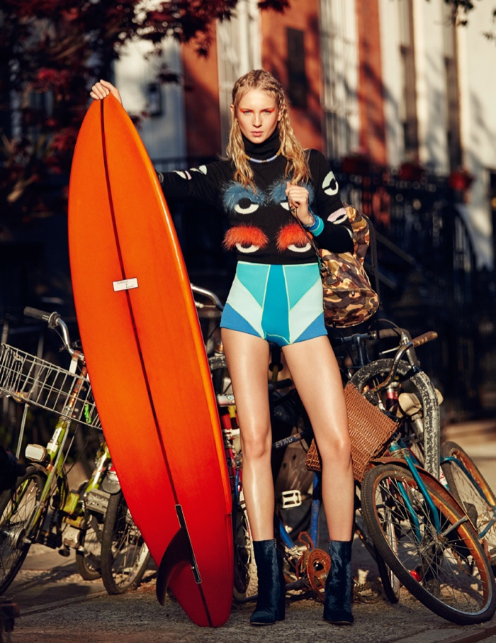 Nastya Sten stars in a Dazed & Confused Korea editorial photographed by Jason Kim