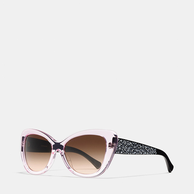 Coach Signature Spray Cat Eye Sunglasses available for $220.00