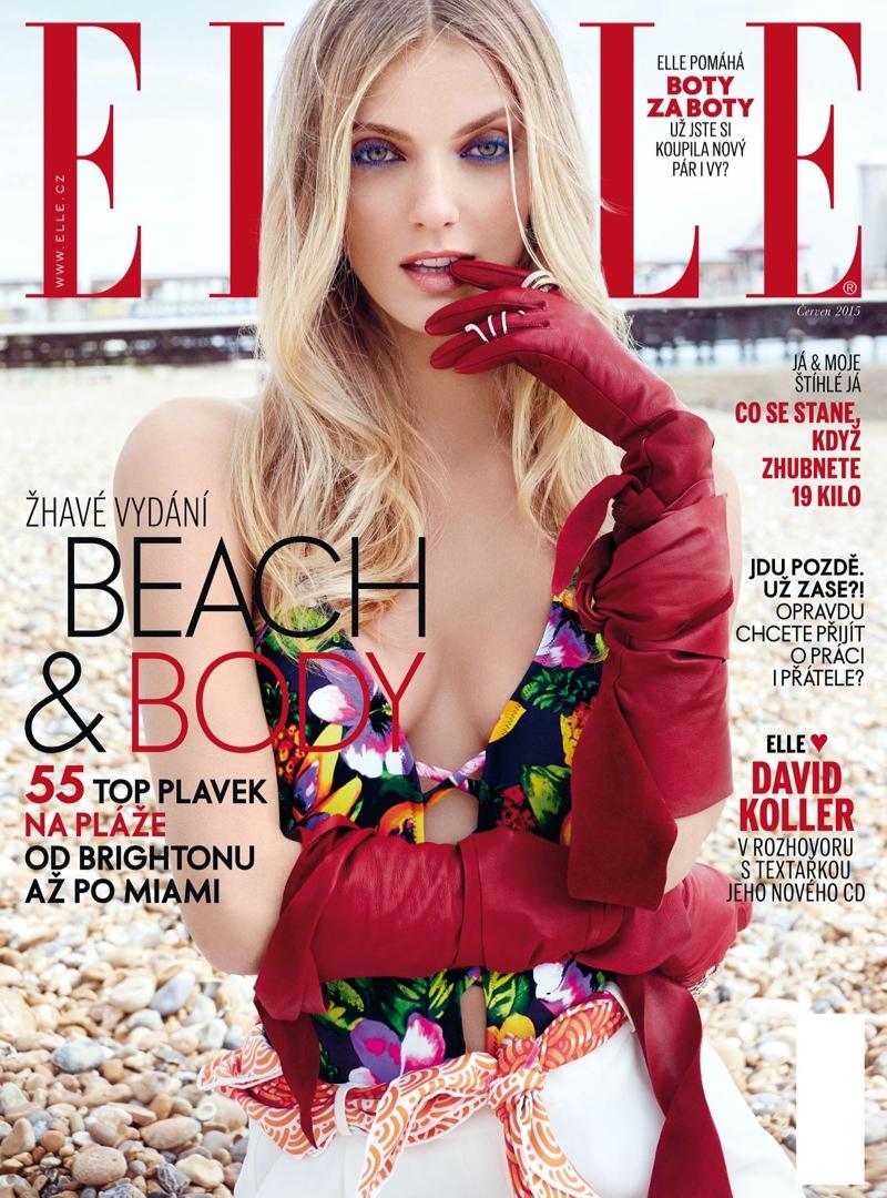 Denisa Dvorakova lands the July 2015 cover of ELLE Czech