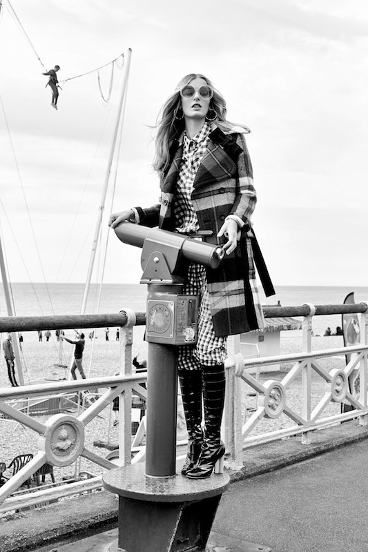 Denisa Dvorakova Brings Style to Brighton Beach for ELLE Czech