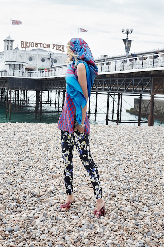 Denisa gets whimsical with a mix of bold prints and colors
