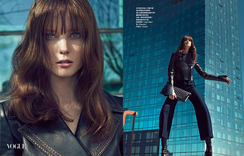 Diana Moldovan Models Sleek Fashions for Vogue Taiwan by An Le