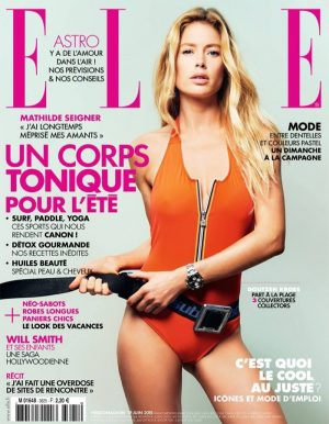 Doutzen Kroes is a Swimsuit Babe on ELLE France Cover (1 of 3)