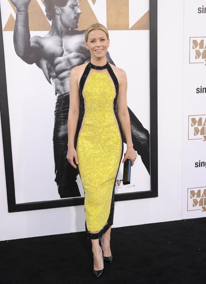Black and yellow balmain dress