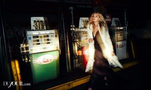 Elsa Hosk Serves Nighttime Glamour for DuJour Editorial