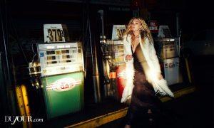 Elsa Hosk Serves Nighttime Glamour for DuJour Editorial