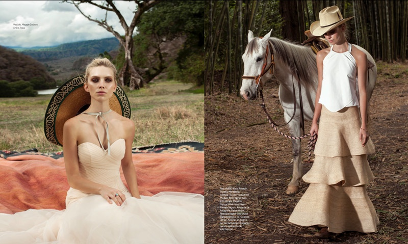 Emily Senko Enchants for Bazaar Latin America Bride by Tigre Escobar