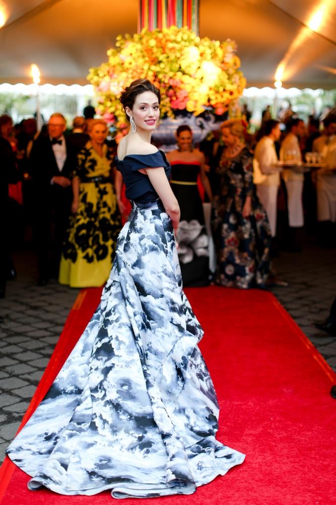 Emmy Rossum is in Bloom in Carolina Herrera at the New York Botanical Garden's 2015 Conservatory Ball