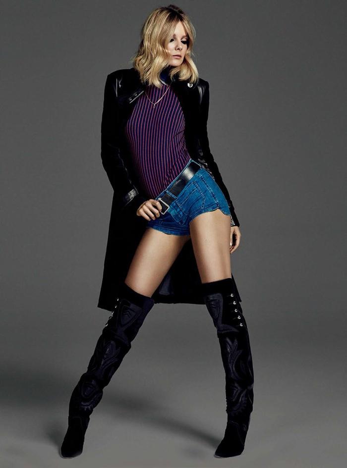 Eniko Mihalik Rocks Sexy Denim Looks for Harper's Bazaar Brazil