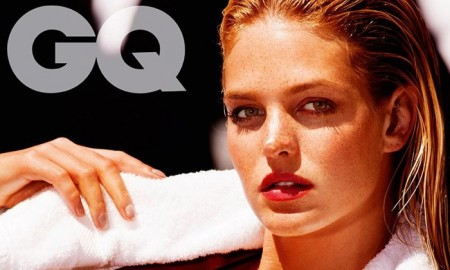 Erin wears a blue bikini in GQ Spain