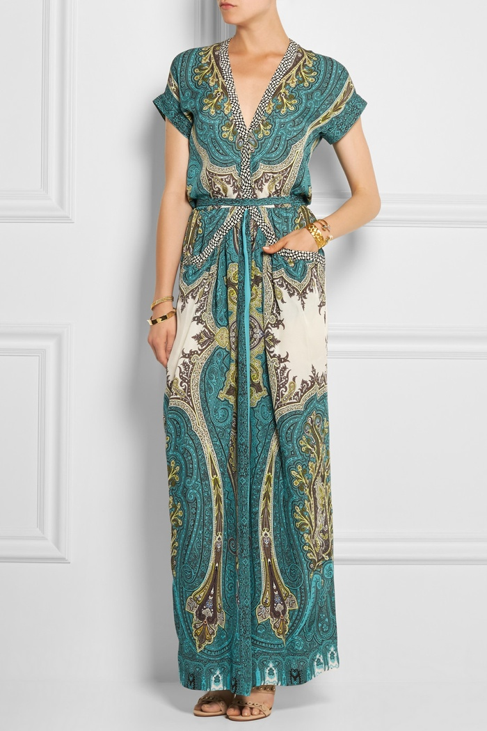 Etro Printed Silk Crepe de Chine Maxi Dress available for $2,590