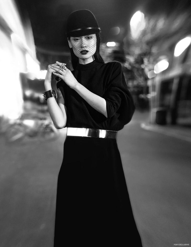 Dress Givenchy; Skirt, Hat & Belt stylist's own, Bracelet Hermes