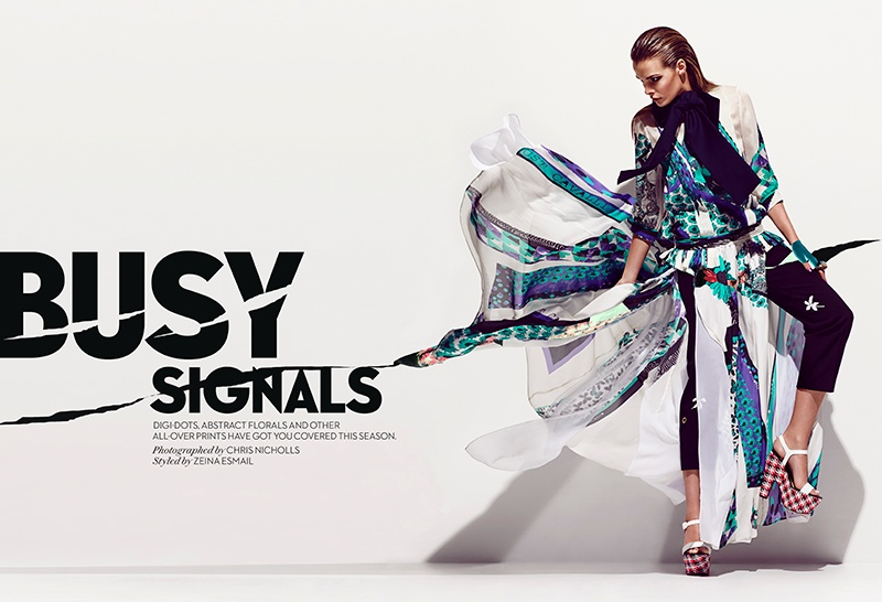 Jessiann Gravel poses for Chris Nicholls in a new editorial for Fashion Magazine's June issue