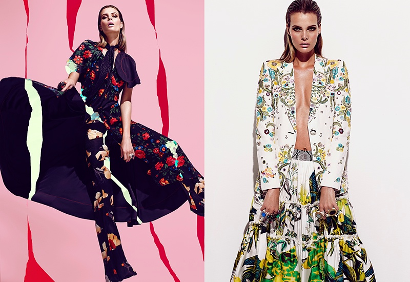 Fresh Florals: a mix of floral prints in tropical and romantic style makes a statement