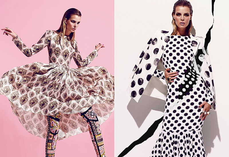 Jessiann Gravel is Mad About Prints in FASHION Editorial