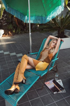 Alena Blohm Gets Into a 70s Groove for Free People Shoot