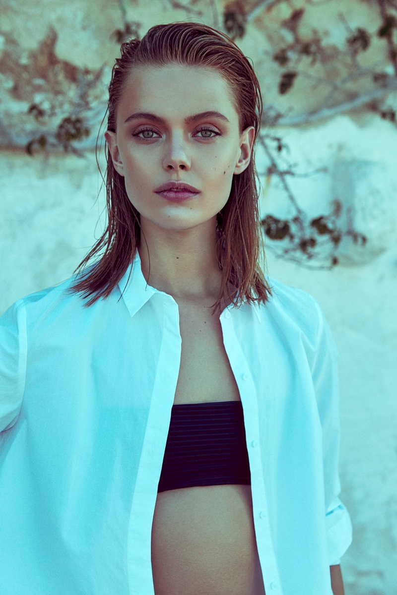 Frida Gustavsson Models Casual Summer Style for ELLE Sweden