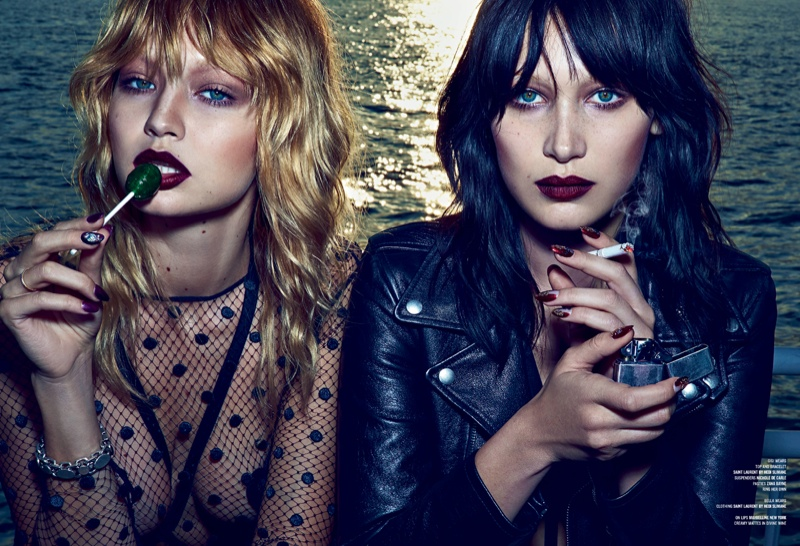 Gigi and Bella Hadid pose for Steven Klein in the feature