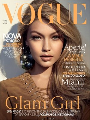 Gigi Hadid Gets Glam on Vogue Brazil July 2015 Cover