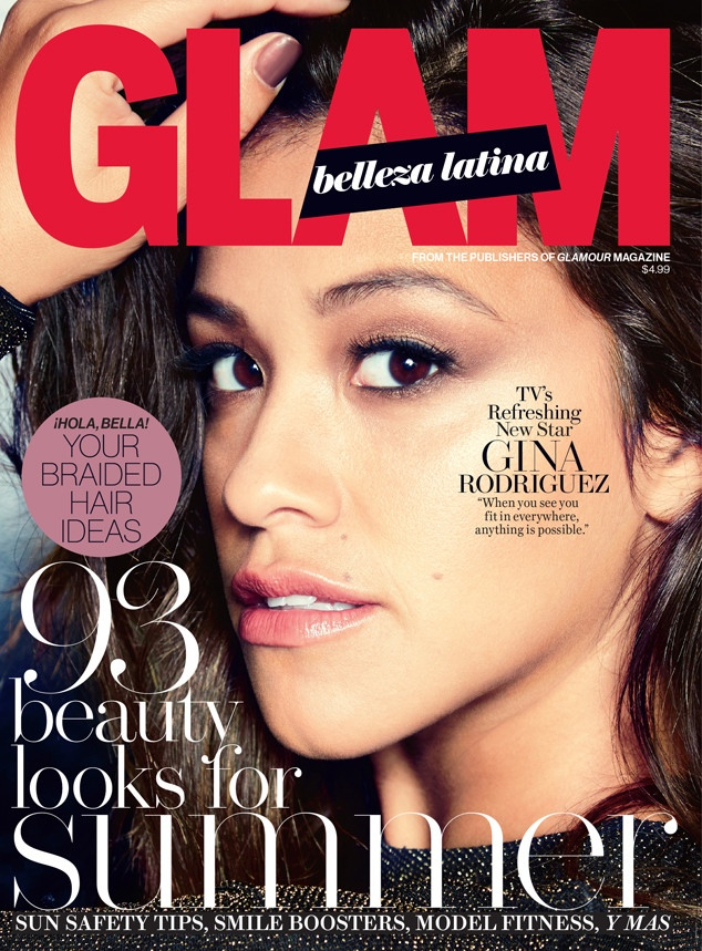 Gina Rodriguez lands the summer 2015 cover of Glam Belleza Latina