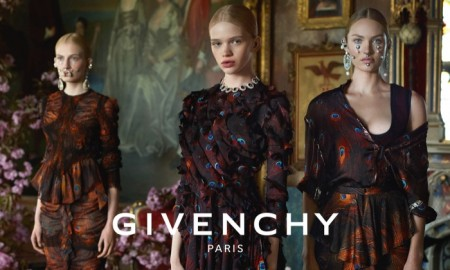 An image from Givenchy's fall-winter 2015 campaign featuring Candice Swanepoel & Stella Lucia Deopito