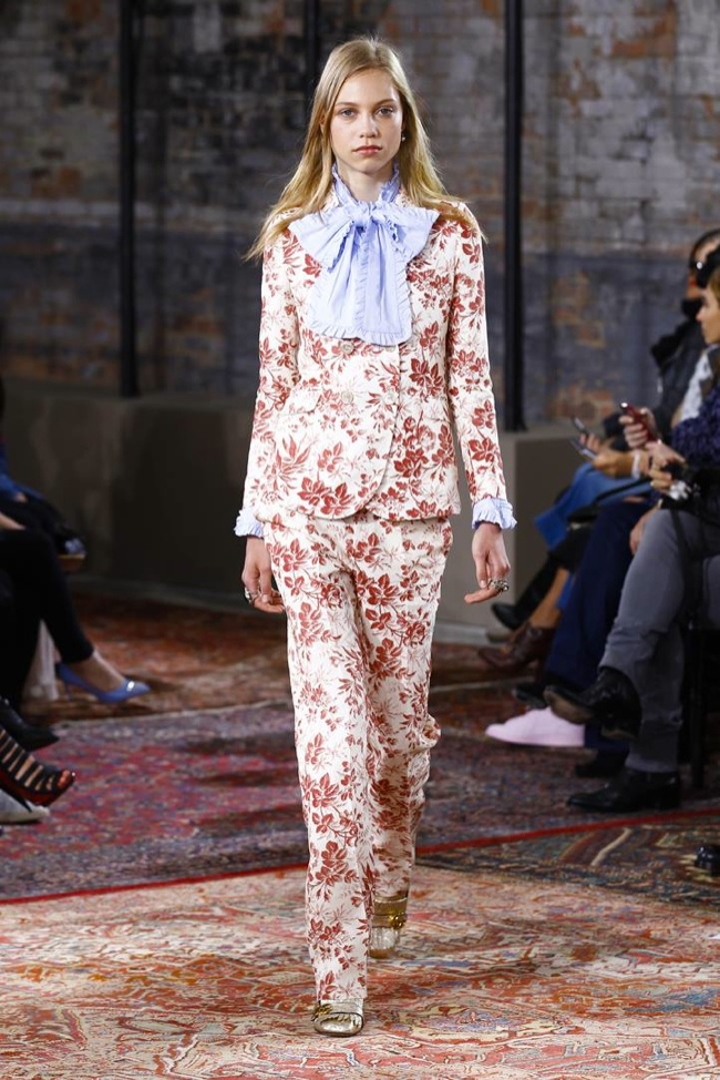 A look from Gucci's resort 2016 runway show