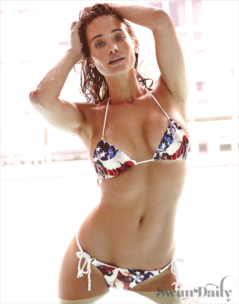 Hannah Davis Stars in 4th of July Themed Swimsuit Daily Film
