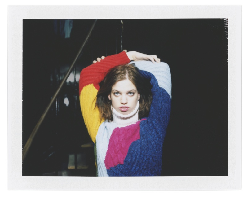 Iceberg Taps Lily McMenamy for Polaroid Shot Fall 2015 Campaign