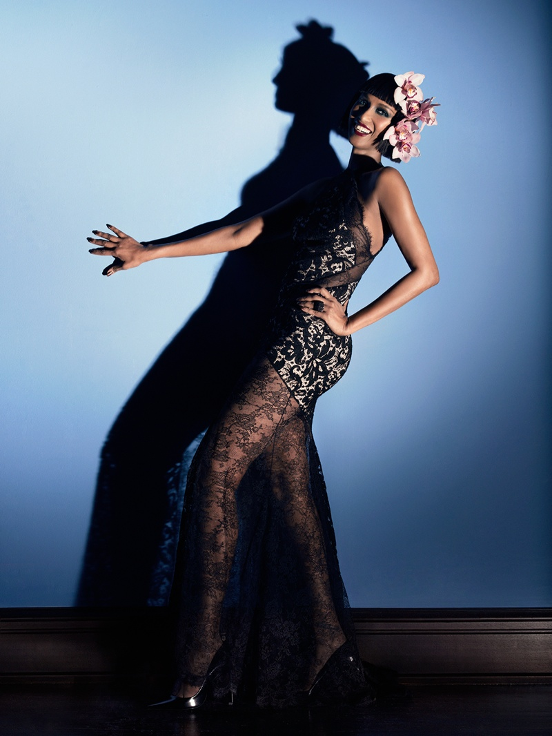 Iman Celebrates Turning 60 with Vanity Fair Italia Shoot by Markus&Koala