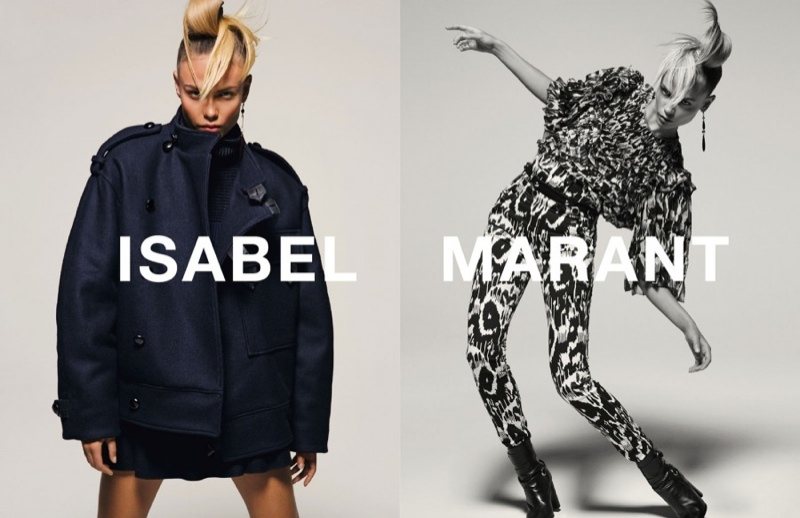 Natasha Poly showed off her best moves in the fall winter 2015 campaign from Isabel
