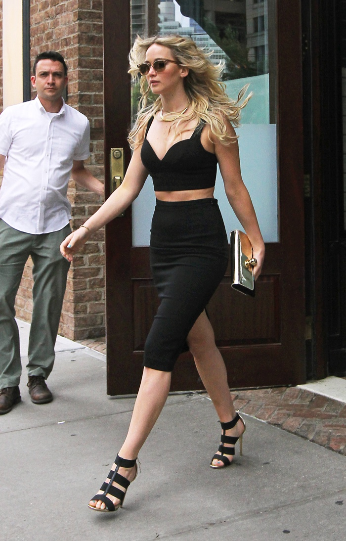 Jennifer Lawrence Shows How to Wear Black in the Summer in Michael Kors