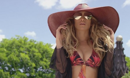 Jennifer Lopez wears swimsuit in 'Back it Up' music video