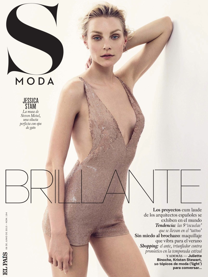 Jessica Stam lands the June 4, 2015 cover of S Moda