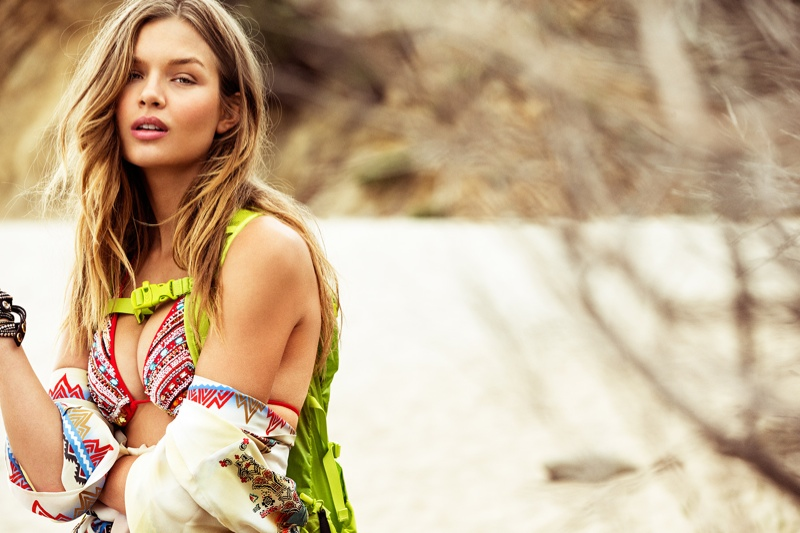 Josephine Skriver is a Beach Babe for Editorial in Vanity Fair Italia