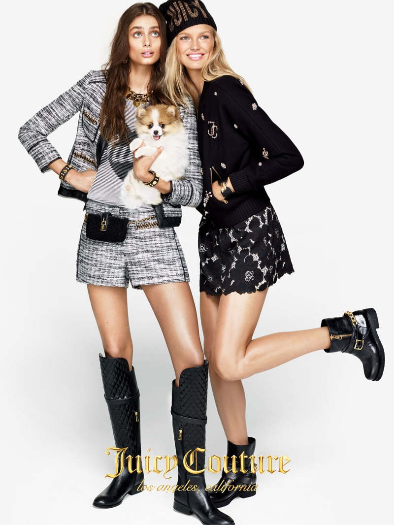 Romee Strijd + Taylor Hill Front Juicy Couture Fall 2015 Ads