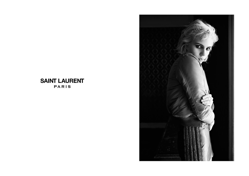 Model & Singer Julia Cumming Joins Saint Laurent's Fall 2015 Ads