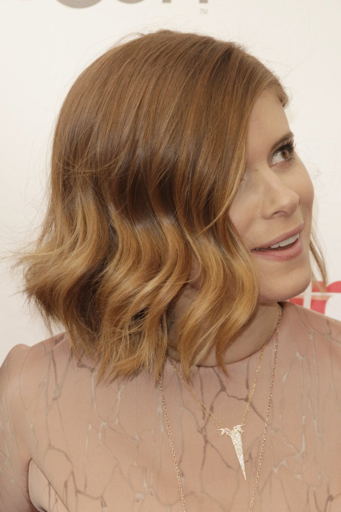 Kate Mara shows off a wavy bob hairstyle. Photo: Helga Esteb / Shutterstock.com