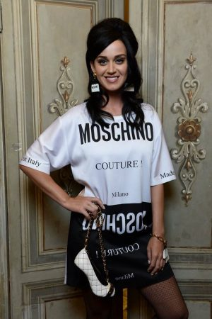 Katy Perry Rocks a T-Shirt Dress at the Moschino Pitti Uomo Show