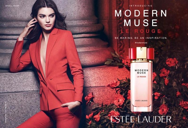 Kendall Jenner for Estee Lauder 'Modern Muse Le  Rouge' Fragrance Ad