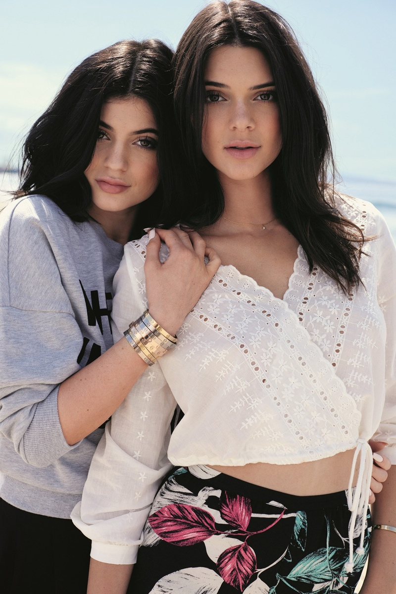 Kendall & Kylie Jenner pose for Topshop collaboration