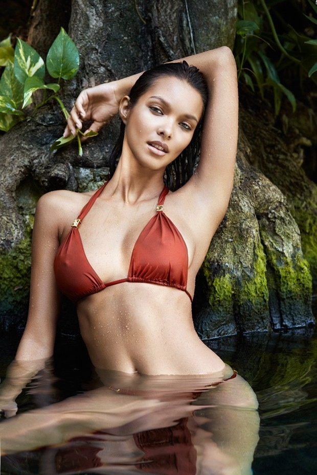 Lais Ribeiro Flaunts Her Figure in Swimsuit Looks for GQ Brazil