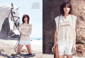 Langley Fox Wears All White Looks for Ethereal Air France Madame Feature