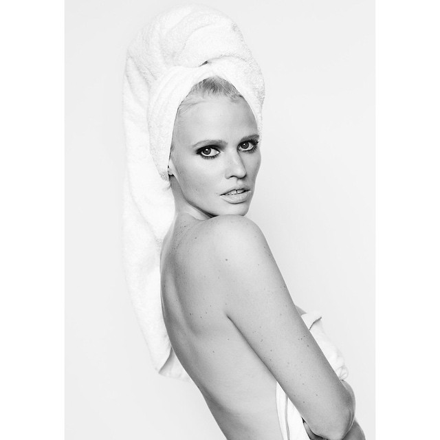 Lara Stone for Mario Testino's Towel Series