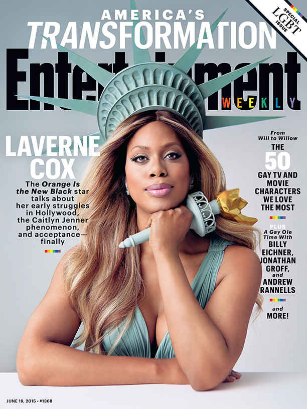 OITNB's Laverne Cox is Lady Liberty on Entertainment Weekly Cover
