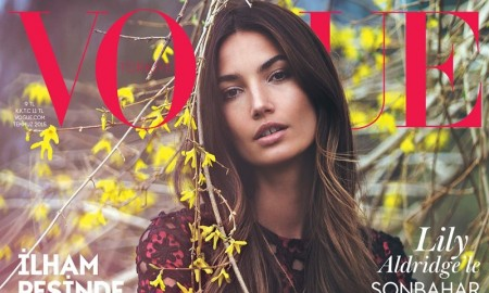 Lily Aldridge on the July 2015 cover of Vogue Turkey