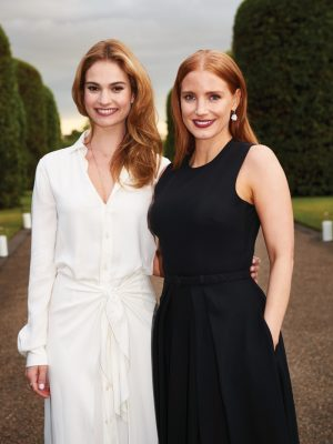 Jessica Chastain, Lily James, Alice Eve Attend the Ralph Lauren & Vogue Wimbledon Party