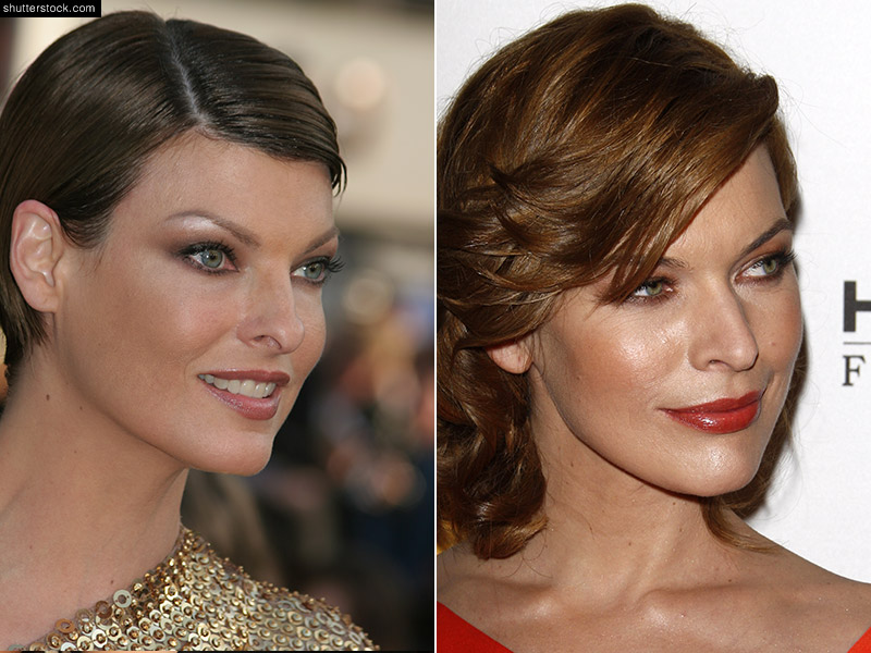Milla Jovovich (R) began her career as a model in the 90s and later became a successful actress, while Linda Evangelista (L) is the original supermodel. The pair's classic features each have similarities. Photo: cinemafestival / Helga Esteb / Shutterstock.com