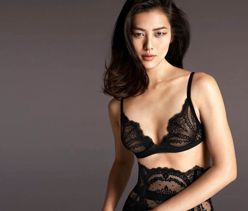 Liu Wen + Natasha Poly Heat Up La Perla's Fall 2015 Campaign