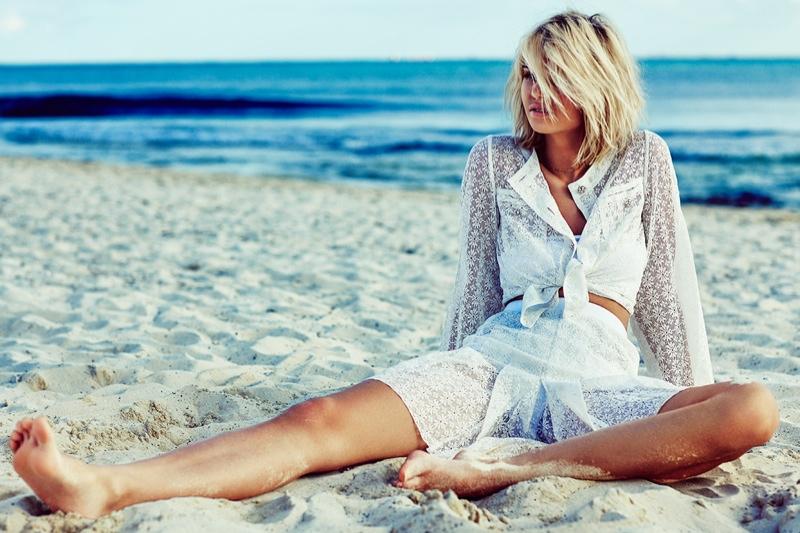 Luisa Hartema Hits the Beach for Telva Shoot by Tomás de la Fuente